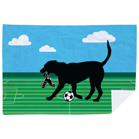 Soccer Premium Blanket - Sammy The Soccer Dog