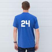 Hockey Short Sleeve T-Shirt - Hockey Goalie Sketch