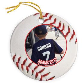 Baseball Porcelain Ornament Custom Photo
