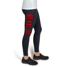 Girls Lacrosse High Print Leggings #LAXGIRL