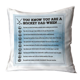Hockey Throw Pillow You Know You're A Hockey Dad When