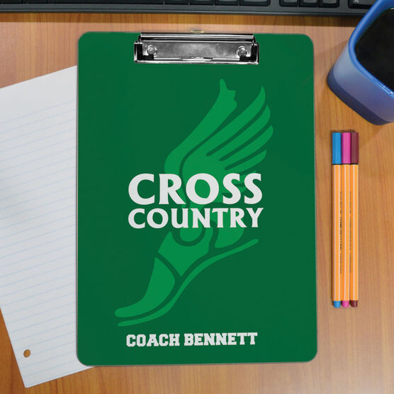 Cross Country Custom Clipboard Winged Foot