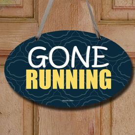 Gone Running Decorative Oval Sign