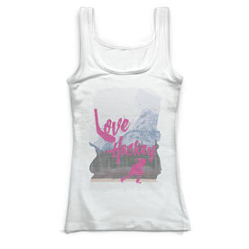 Hockey Vintage Fitted Tank Top - Loving The Game