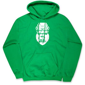 Hockey Hooded Sweatshirt - Ho Ho Santa Face