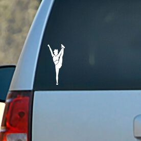 Vinyl Car Decal Cheerleader Foot Grab Silhouette