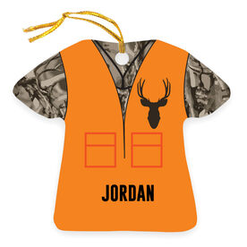Personalized Ornament - Hunting Camo Vest With Deer