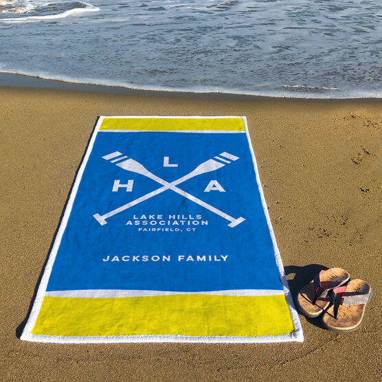 Personalized Premium Beach Towel - Custom Logo