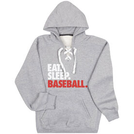 Baseball Sport Lace Sweatshirt Eat. Sleep. Baseball.