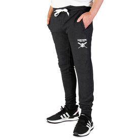Baseball Men's Joggers - Team Name With Crossed Bats