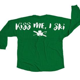 Skiing Statement Jersey Shirt Kiss Me I Ski