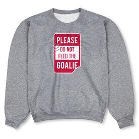 Hockey Crew Neck Sweatshirt -  Ain't Afraid of No Post