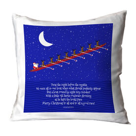 Crew Throw Pillow Rowing Reindeer and Santa
