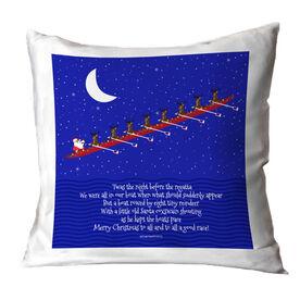 Crew Throw Pillow Rowing Reindeer and Santa
