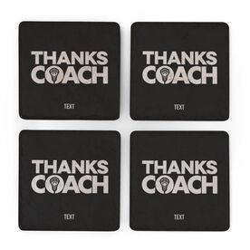 Guys Lacrosse Stone Coasters Set of Four - Coach (Autograph)