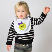 Tennis Baby Bib - Personalized Tennis Ball Bow