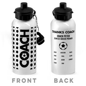 Soccer 20 oz. Stainless Steel Water Bottle - Coach With Roster