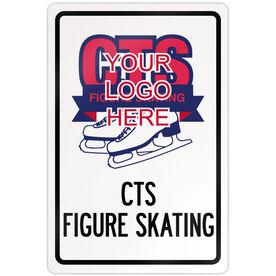 "Figure Skating 18"" X 12"" Aluminum Room Sign Figure Skating Custom Logo With Team Name"