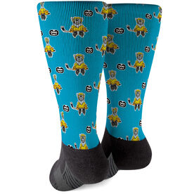 Seams Wild Hockey Printed Mid-Calf Socks - Northern (Pattern)