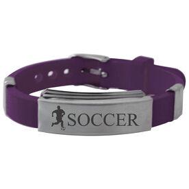 Soccer Player (M) Silicone Bracelet
