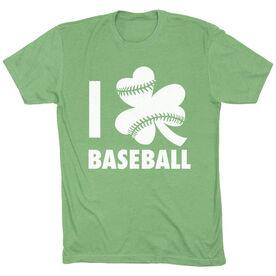 Baseball Short Sleeve T-Shirt - I Shamrock Baseball (Green)