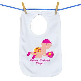 Softball Baby Bib Future Softball Girls