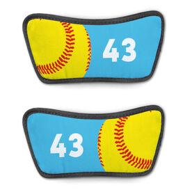 Softball Repwell™ Sandal Straps - Ball and Number Reflected