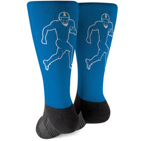 Football Printed Mid-Calf Socks - Running Back