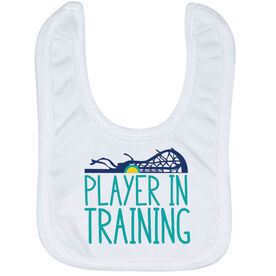 Girls Lacrosse Baby Bib - Player In Training