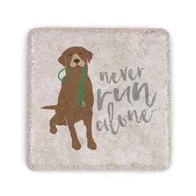 Running Stone Coaster - Never Run Alone