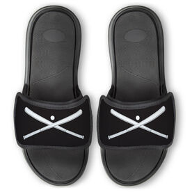 Baseball Repwell™ Slide Sandals - Crossed Bats with Ball