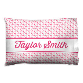 Cheerleading Pillowcase - Personalized Megaphone Pattern