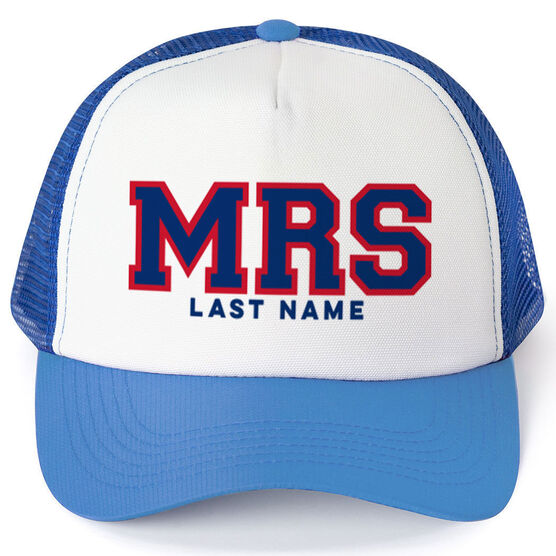 Personalized Trucker Hat - Mrs. (Sporty)