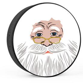 Personalized Santa's Face Hockey Puck