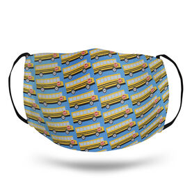 Face Mask - School Bus Pattern