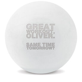 Custom Engraved Trigger Point Massage Therapy Ball Personalized Great Workout (White Ball)