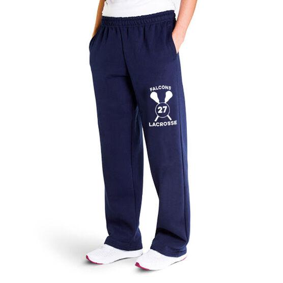 Lacrosse Fleece Sweatpants - Team & Number