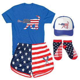 Patriotic Girls Lacrosse Outfit