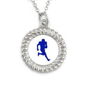 Braided Circle Necklace Custom Team Color Football Running