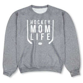 Hockey Crew Neck Sweatshirt - Hockey Mom Life
