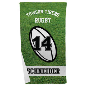 Rugby Beach Towel Personalized Team
