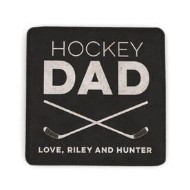 Hockey Stone Coaster - Personalized Hockey Dad