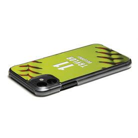 Softball iPhone® Case - Personalized Stitches