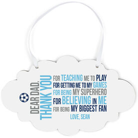 Soccer Cloud Sign - Dear Dad
