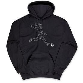 Soccer Standard Sweatshirt - Soccer Girl Player Sketch