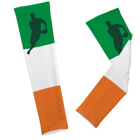 Rugby Printed Arm Sleeves Rugby Irish Colors Male