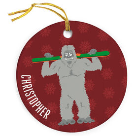 Skiing Porcelain Ornament Are You Yeti To Ski