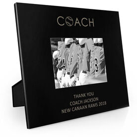 Baseball Engraved Picture Frame - Coach