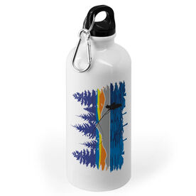 Fly Fishing 20 oz. Stainless Steel Water Bottle - Pond Fishing In The Woods