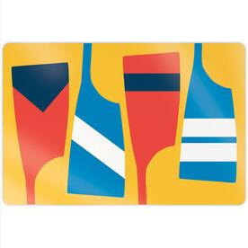 """Crew 18"""" X 12"""" Aluminum Room Sign - Oars Colors"""